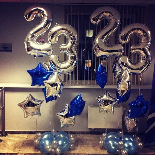 balloon decorations for 23th birthday