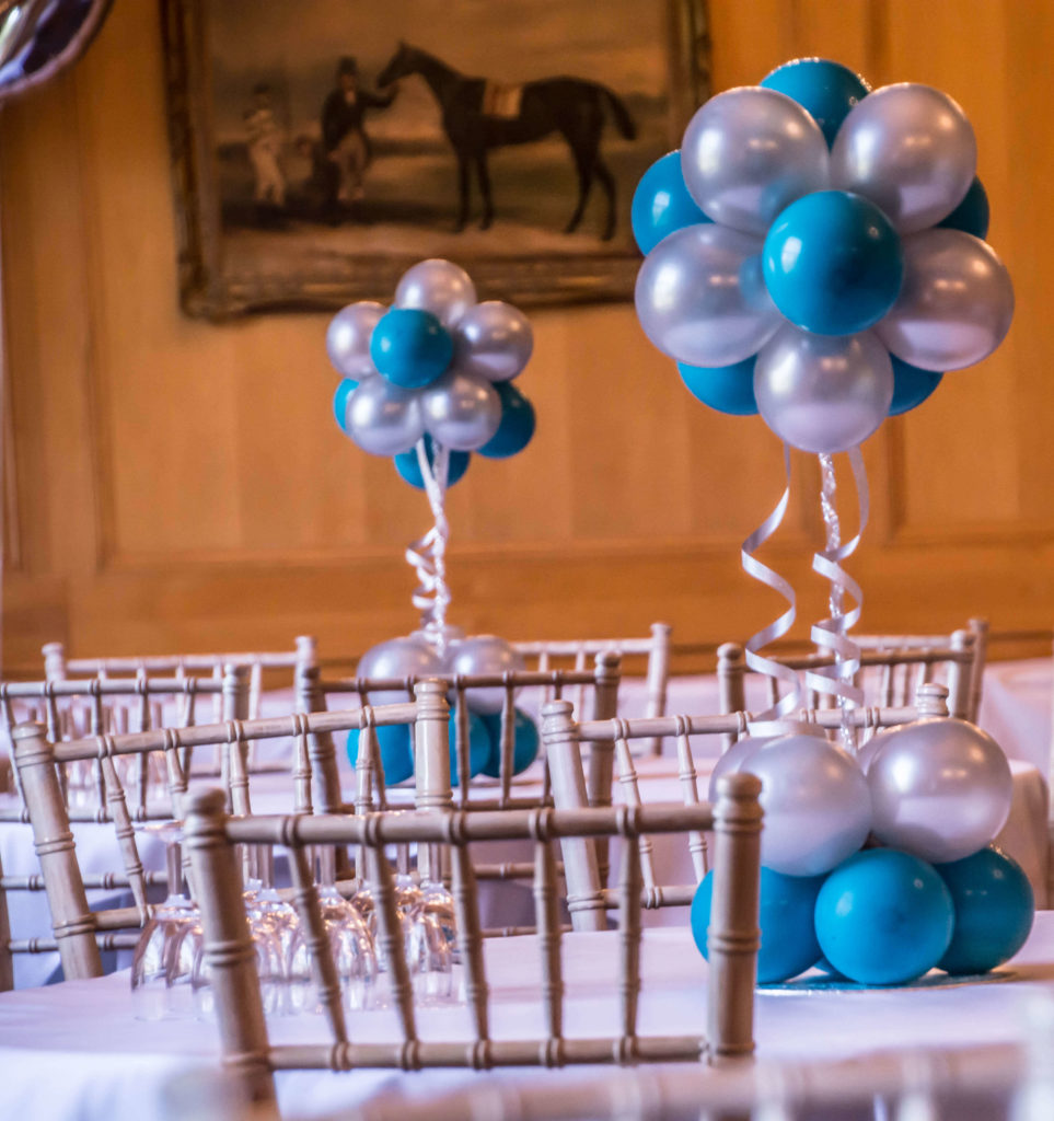 Bar Mitzvah balloons centerpiece