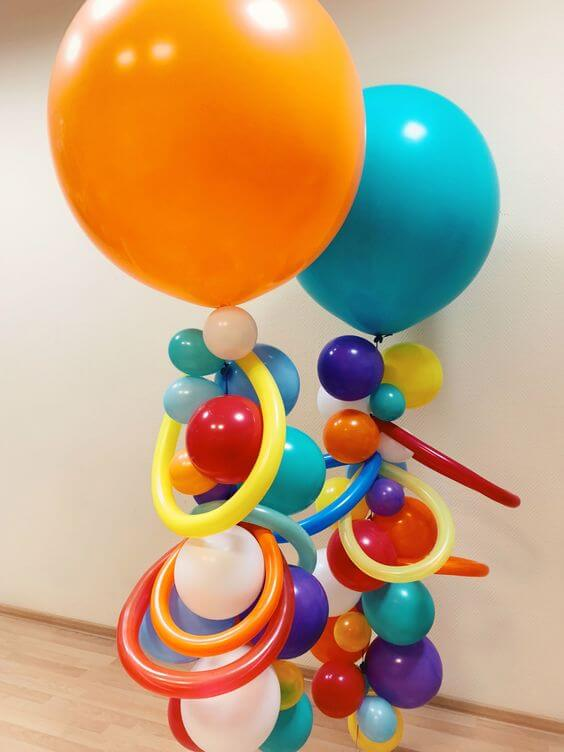 mix color party balloon decoration for birthday