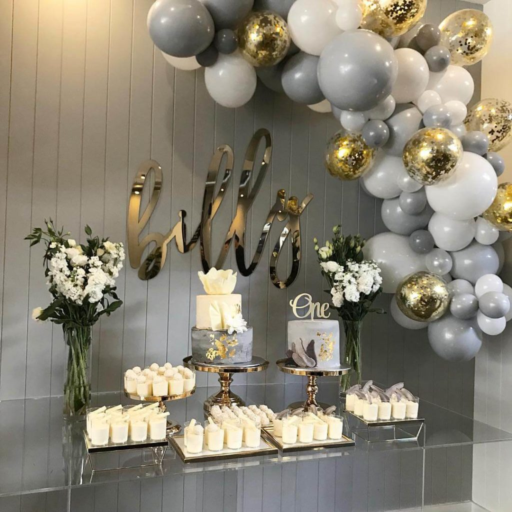 bridal shower garland balloons
