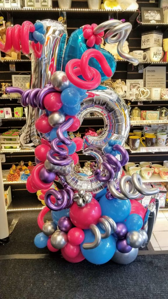 13th birthday balloons centerpiece delivery services in New Jerset